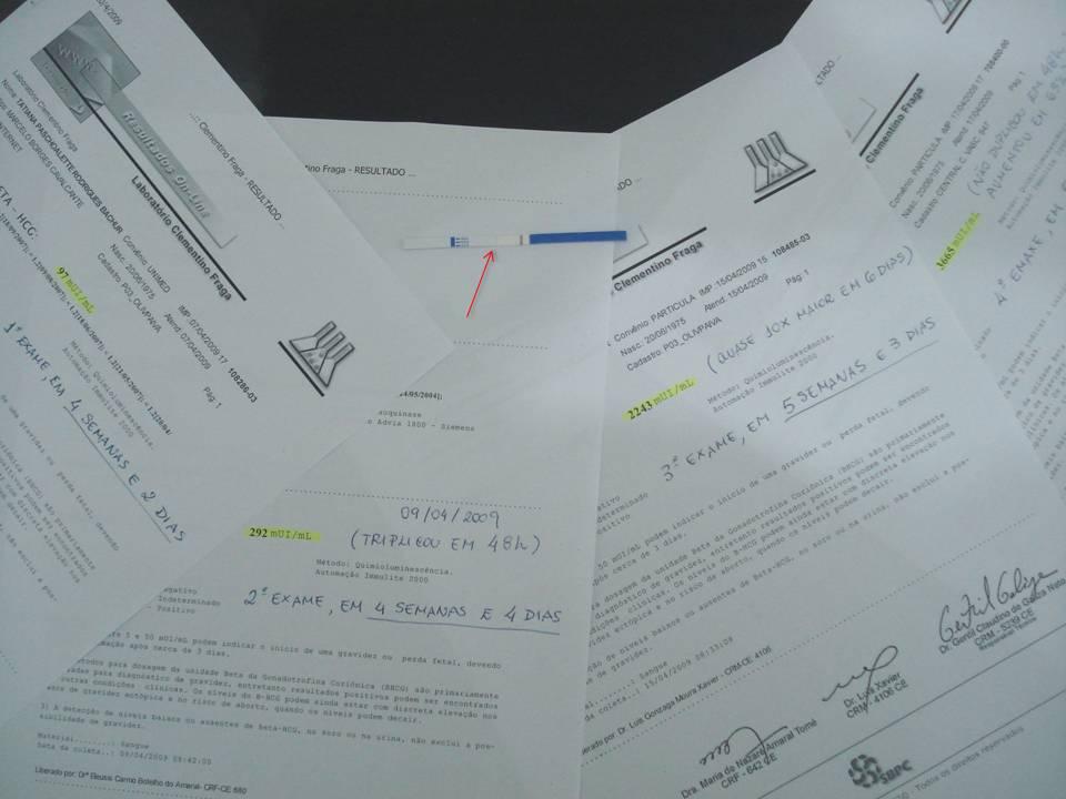 01 teste de farmácia e 4 betas quantitativos... Será que eu estava acreditando? Vejam a seta apontando a listrinha fantasma...Eu vejo, e você?