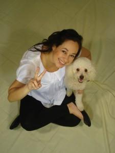 No fim da sessão de fotos pro convite do chá de fraldas, a visita ilustre da princesa canina mais fotogênica que existe!