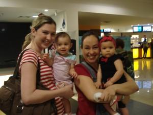Mamães e bebês no cinema!