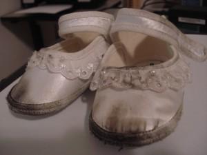 Era uma vez um sapatinho de cetim branco...